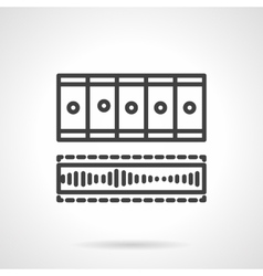 Processing video black line icon vector image