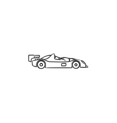 race car hand drawn outline doodle icon vector image