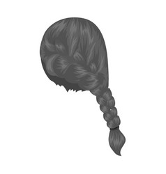 Red pigtailback hairstyle single icon in vector