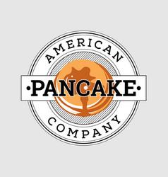 retro american pancake logo design vector image