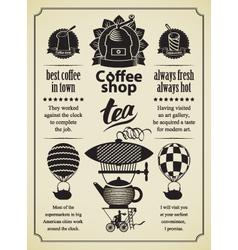 retro coffee and tea vector image
