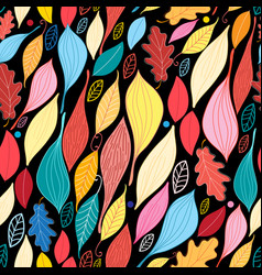 seamless graphic pattern with large leaves vector image