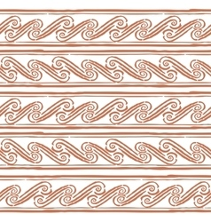 Seamless monochrome hand drawn Greek pattern on vector image
