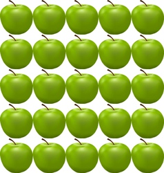 Seamless pattern with green apple vector