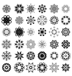 Set of Different Rosettes vector image