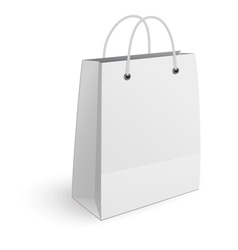 Shopping bag isolated on white background vector image