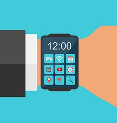 Smart Watch Concept Flat design vector