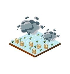 Snowstorm Natural Disaster Icon vector