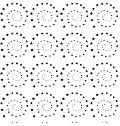 Stars spiral seamless pattern vector
