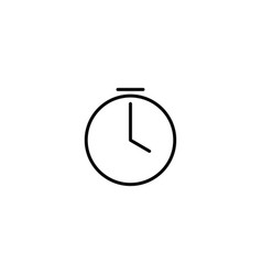 stopwatch timer icon vector image