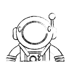 Suit space astronaut sketch vector