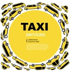 taxi service background vector image