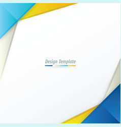 template design blue yellow blue vector image