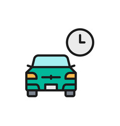 Temporary parking carsharing service flat vector