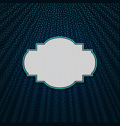 The frame on a blue textile background vector