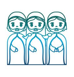 Three wise men icon vector