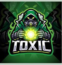 Toxic gas esport mascot logo vector