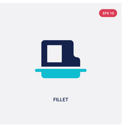 Two color fillet icon from geometry concept vector