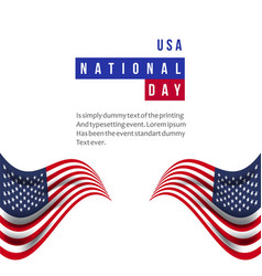 usa national day template design vector image