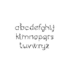 Vintage floral bold logo spring alphabet classic vector
