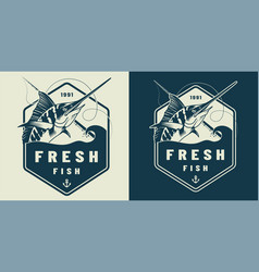 vintage marine label template vector image