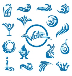 waters design vector image