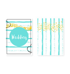 Wedding card invitation with dots and sequins vector