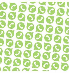 Whatsapp logo pattern background free vector