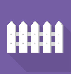 white wood barrier icon flat style vector image