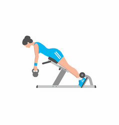 Woman doing lower back exercise vector