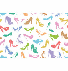 womans shoes seamless pattern vector image