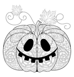 Zentangle stylized pumpkin for halloween vector
