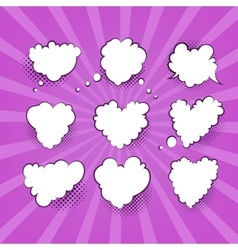 Comic Valentine Heart vector image