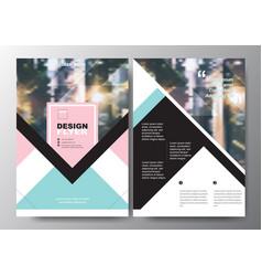 minimal poster brochure flyer design layout vector image vector image