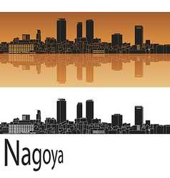 Nagoya skyline in orange vector image vector image