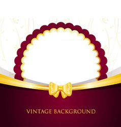 back vintage vector image vector image