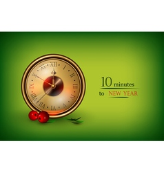 clock showing 10 minutes vector image vector image