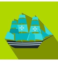 Columbus ship flat icon vector image vector image