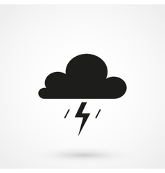 Cumulonimbus clouds icon vector image