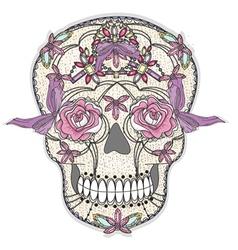 cute sugar skull vector image vector image