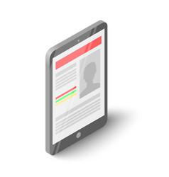 phone icon isometric style vector image