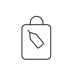 shoping bag with tag icon vector image