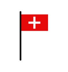 swiss flag vector image