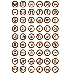 Tourist information icons vector image