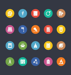 Glyphs Colored Icons 38 vector image vector image