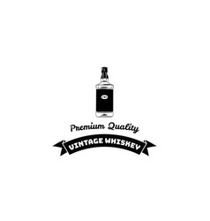 hand draw of whiskey bottle vector image vector image