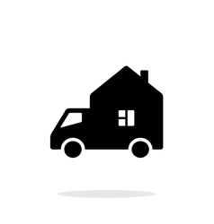 Motorhome car simple icon on white background vector image vector image