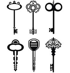 ornamental vintage keys with intricate forging vector image