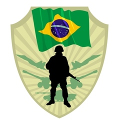 Army of Brazil vector image vector image