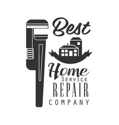 best home repair and renovation service black and vector image